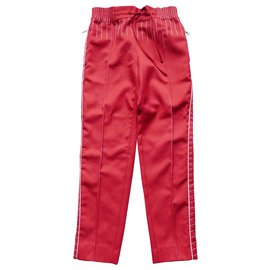 Valentino-Resort 2018 Track Pants-Red