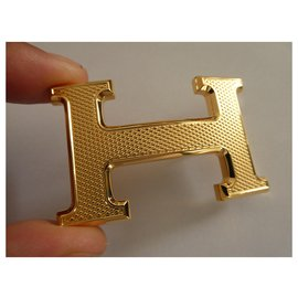 Hermès-golden guilloché buckle-Golden