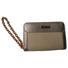 Burberry Prorsum-BURBERRY PRORSUM New nude grained leather wallet with tag and box-Beige