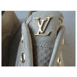 Louis Vuitton-basket louis vuitton en cuir veau retourné style damier 38.5-Beige