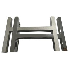 Hermès-Hermès H belt buckle square palladium-Silvery