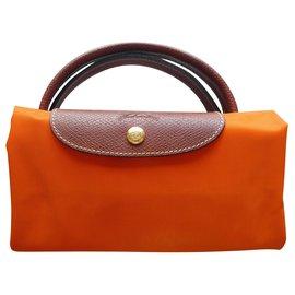Longchamp-longchamp pliage bag size L orange color-Orange