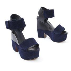 Céline-NAVY BLACK FR38.5-Black,Navy blue
