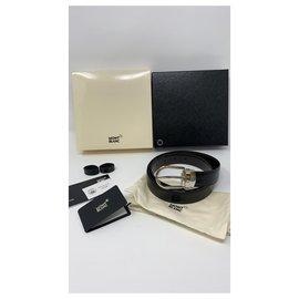 Montblanc-MONTBLANC BELT BRAND NEW-Black,Silver hardware