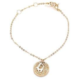 Dior-Dior Gold Round Charm Bracelet-Golden