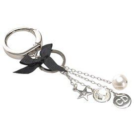 Dior-Porte-clés Dior Silver Charms-Noir,Argenté
