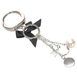 Dior-Dior Silver Charms Key Chain-Black,Silvery