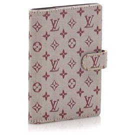 Louis Vuitton-Louis Vuitton Red Monogram Mini Lin Small Ring Agenda-Red