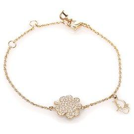 Dior-Dior Gold Logo Charm Bracelet-Golden