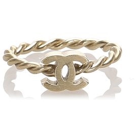 Chanel-Chanel Gold CC and Camellia Rings-Black,Golden