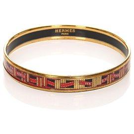 Hermès-Hermes Gold Enamel Bangle-Multiple colors,Golden