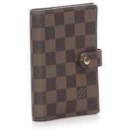 Louis Vuitton-Louis Vuitton Brown Damier Ebene Small Ring Agenda-Brown