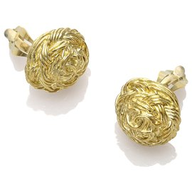 Chanel-Chanel Gold CC Clip-On Earrings-Golden