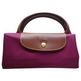 Longchamp-new longchamp pliage bag model L with tag-Fuschia