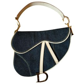 Christian Dior-Clutch bags-Golden,Cream,Navy blue