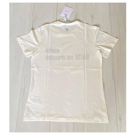 Christian Dior-'Women raise the upraising' t-shirt-White