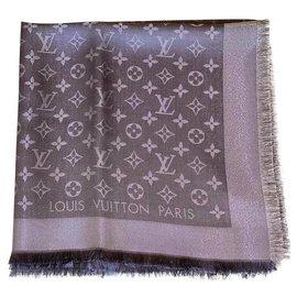 Louis Vuitton-Echarpes-Gris