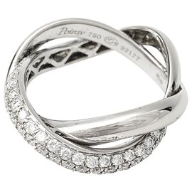 """Poiray-Poiray """"Tresse"""" ring in white gold and diamonds.-Other"""