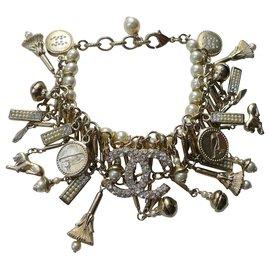 Chanel-CHANEL Crafts Charm Bracelet 2018 / PARIS NY-Gold hardware