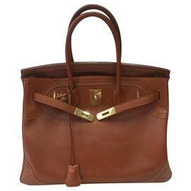 Hermès-Birkin Gillies-Cognac,Caramel