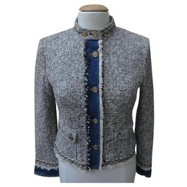 Dolce & Gabbana-Jackets-Blue,Cream