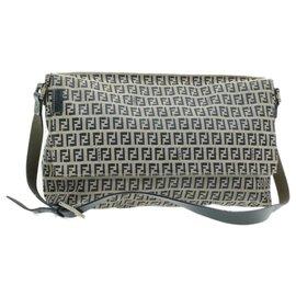 Fendi-Fendi Shoulder Bag-Navy blue