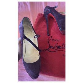 Christian Louboutin-Heels-Dark red