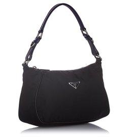 Prada-Prada Black Tessuto Shoulder Bag-Black