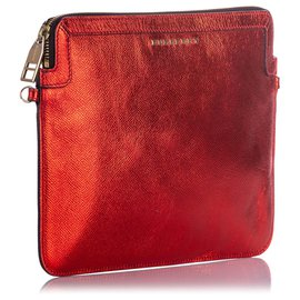 Burberry-Burberry Red Leather Crossbody Bag-Red