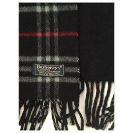 Burberry-Burberry unisex cashmere scarf lined sided-Multiple colors,Navy blue