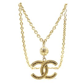 Chanel-Chanel Gold CC Jumbo Chain Necklace-Golden