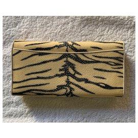 Autre Marque-Galuchat travel wallet-Multiple colors