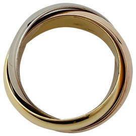"""Cartier-Cartier ring """"Trinity"""" model three golds.-Other"""