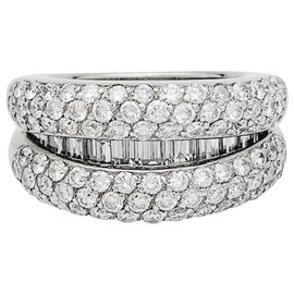 inconnue-White gold and diamonds pave ring.-Other