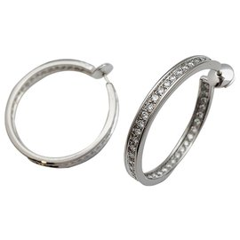 Cartier-Cartier earrings, WHITE GOLD, diamants.-Other