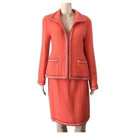 Chanel-Chanel Orange suit-Orange