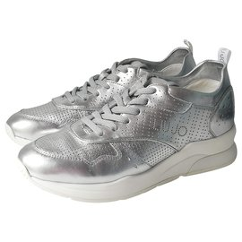 Liu.Jo-sneakers-Argenté,Blanc