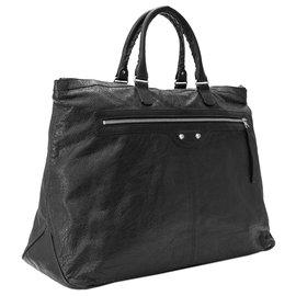 Balenciaga-Balenciaga Black Motocross Leather Travel Bag-Black