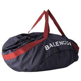Balenciaga-Balenciaga Blue XL Wheel Everyday Nylon Travel Bag-Red,Blue,Navy blue