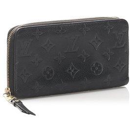 Louis Vuitton-Louis Vuitton Black Monogram Empreinte Zippy Wallet-Black