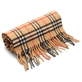 Burberry-Burberry Brown House Check Wool Scarf-Brown,Multiple colors,Beige