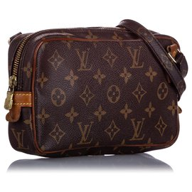 Louis Vuitton-Louis Vuitton Brown Monogram Marly Bandouliere-Brown