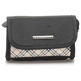 Burberry-Burberry Black Nova Check Canvas Pouch-Black,Multiple colors