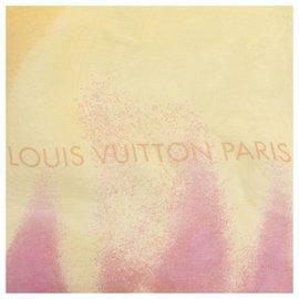 Louis Vuitton-Foulard en soie imprimé monogramme orange Louis Vuitton-Multicolore,Orange