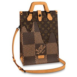 Louis Vuitton-Mini Tote-Brown,Damier ebene