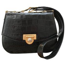 Gianni Versace-Handbags-Black