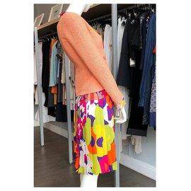 Chanel-Veste, Jupe, top-Multicolore