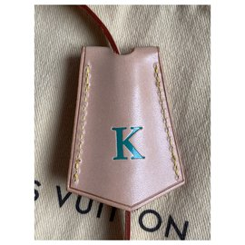 Louis Vuitton-Clochette bag charm-Beige,Green