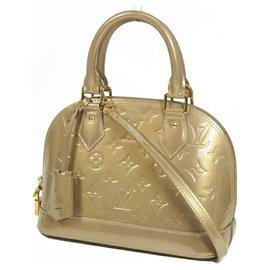 Louis Vuitton-LOUIS VUITTON almaBB Verni Womens handbag M91752 beige Poudre-Other