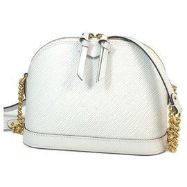 Louis Vuitton-Louis Vuitton alma Mini Womens shoulder bag M51407 White-White